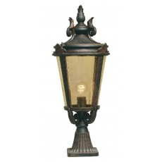 Elstead Baltimore 1 Light Old Bronze Large Pedestal Lantern Light