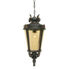 Elstead Baltimore 1 Light Old Bronze Medium Chain Lantern Light