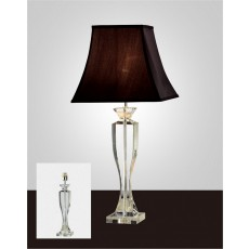 Diyas Carmela Crystal Table Lamp Without Shade 1 Light Silver Finish