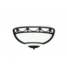 Elstead Carisbrooke Black Uplighter Wall Light