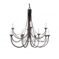 Elstead Carisbrooke 12 Light Black Chandelier