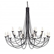 Elstead Carisbrooke 18 Light Black Chandelier