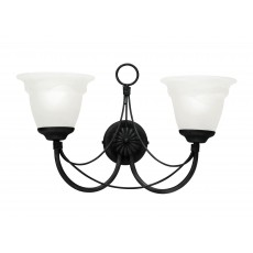 Elstead Carisbrooke 2 Light Black Wall Light