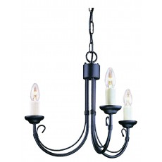 Elstead Chartwell 3 Light Black Chandelier Light