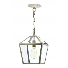 Dar Churchill 1 Light Antique Brass Pendant Light