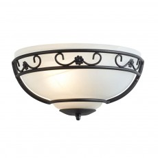 Elstead Chartwell Black Uplighter Wall Light