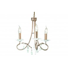 Elstead Christina 3 Light Silver/Gold Chandelier Light
