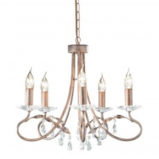 Elstead Christina 5 Light Silver/Gold Chandelier Light