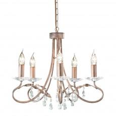 Elstead Christina 5 Light Silver/Gold Chandelier Light