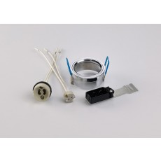 Diyas Downlight Component Kit Lampholders And Retaining Ring Polished Chrome
