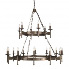Elstead Cromwell 18 Light Old Bronze Chandelier Light