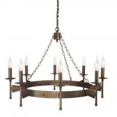 Elstead Cromwell 8 Light Old Bronze Chandelier Light