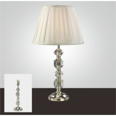 Diyas Dana Crystal Table Lamp Without Shade 1 Light Silver Finish