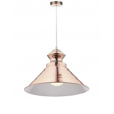 Dar Dauphine 1 Light Copper Pendant Light