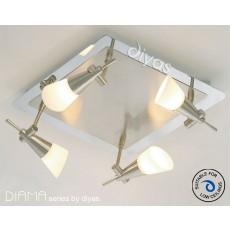 Diama On Plate G9 4 Light Nickel/Polished Chrome/Opal Glass