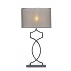 Dar Donovan Black Chrome Table Lamp