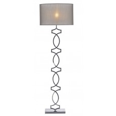 Dar Donovan Black Chrome Floor Lamp