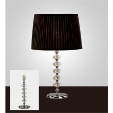 Diyas Elenor Crystal Table Lamp Without Shade 1 Light Silver Finish