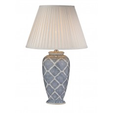 Dar Ely Blue/White Base Only Table Lamp