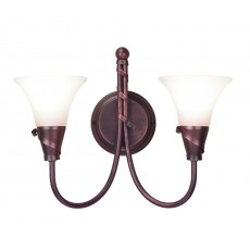 Elstead Emily 2 Light Copper Wall Light