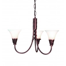 Elstead Emily 3 Light Copper Chandelier Light
