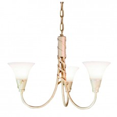 Elstead Emily 3 Light Ivory Gold Chandelier Light