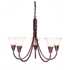 Elstead Emily 5 Light Copper Chandelier Light