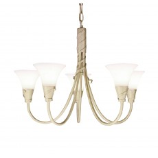Elstead Emily 5 Light Ivory Gold Chandelier Light