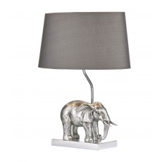 Dar Enrique Silver Elephant Table Lamp