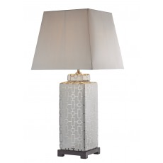 Dar Evelyn Silver/Cream Base Only Table Lamp