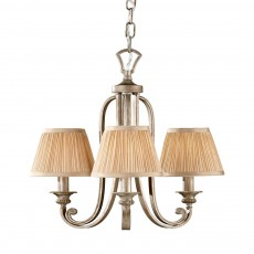 Feiss Abbey 3 Light Silver Sand Chandelier Light