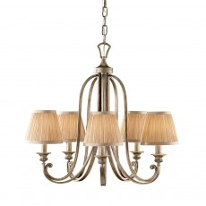 Feiss Abbey 5 Light Silver Sand Chandelier Light