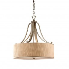 Feiss Abbey 3 Light Silver Sand Pendant Light