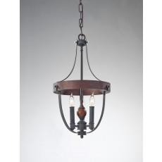 Feiss Alston 3 Light Charcoal Chandelier Light