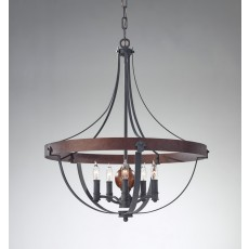 Feiss Alston 5 Light Charcoal Chandelier Light