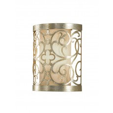 Elstead Feiss Arabesque 1 Light Silver Leaf Wall Light