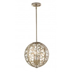 Elstead Feiss Arabesque 3 Light Silver Leaf Chandelier