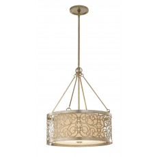 Elstead Feiss Arabesque 4 Light Silver Leaf Chandelier