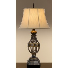 Feiss Augustine 1 Light Antique Brown Table Lamp