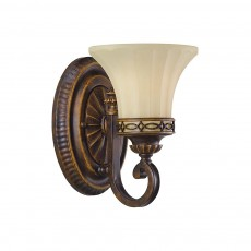 Feiss Drawing Room 1 Light Walnut Wall Light