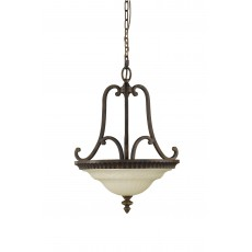 Feiss Drawing Room 2 Light Uplight Walnut Chandelier Light