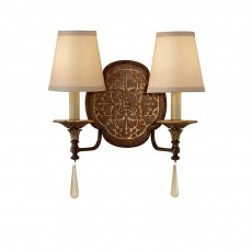 Feiss Marcella 2 Light Bronze Wall Light