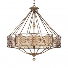 Feiss Marcella 4 Light Bronze Chandelier Light