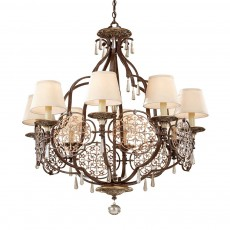 Feiss Marcella 8 Light Bronze Chandelier Light