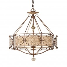 Feiss Marcella 3 Light Bronze Pendant Light