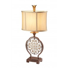 Feiss Marcella 1 Light Bronze Table Lamp