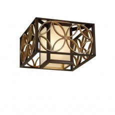 Feiss Remy 2 Light Bronze/Gold Flush Light