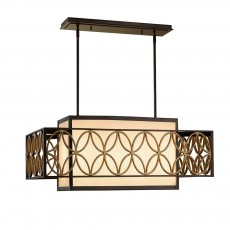 Feiss Remy 4 Light Bronze/Gold Pendant Light