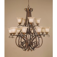 Feiss Sonoma Valley 12 Light Aged Tortoise Shell Chandelier Light