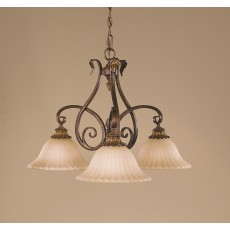 Feiss Sonoma Valley 3 Light Aged Tortoise Shell Chandelier Light